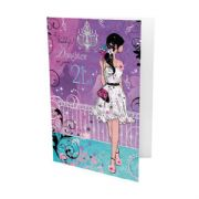 Daughter 21st Birthday Purple Card